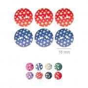 Botões Com Estrelinhas - 5 Pacotes Tamanho - 17