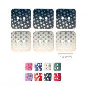 Botões Com Estrelinhas - 5 Pacotes Tamanho - 19