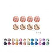 Botões Com Poá Redondos - 12 mm