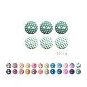Botões Com Poá Redondos - 15 mm
