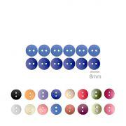 Botões Lisos Redondos - 08 mm