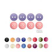 Botões Lisos Redondos  - 12 mm