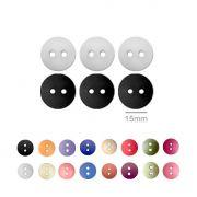 Botões Lisos Redondos  - 15 mm