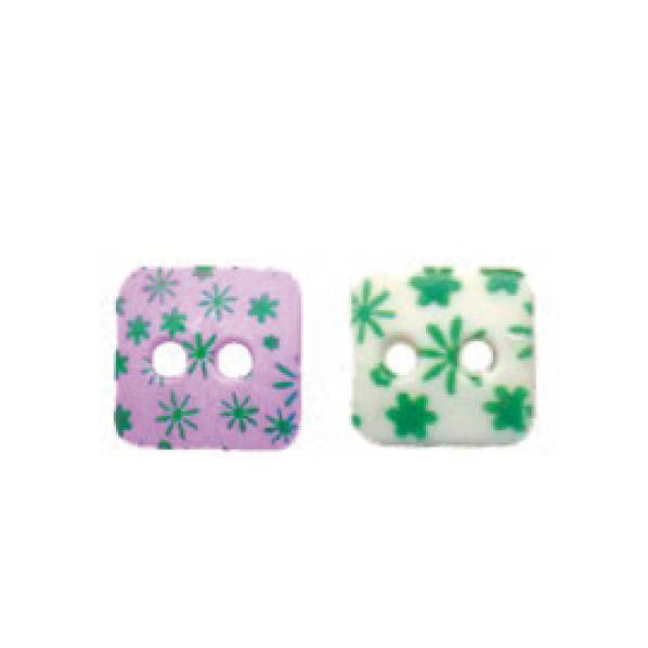 Botões Com Florzinhas - 5 Pacotes Tamanho - 16