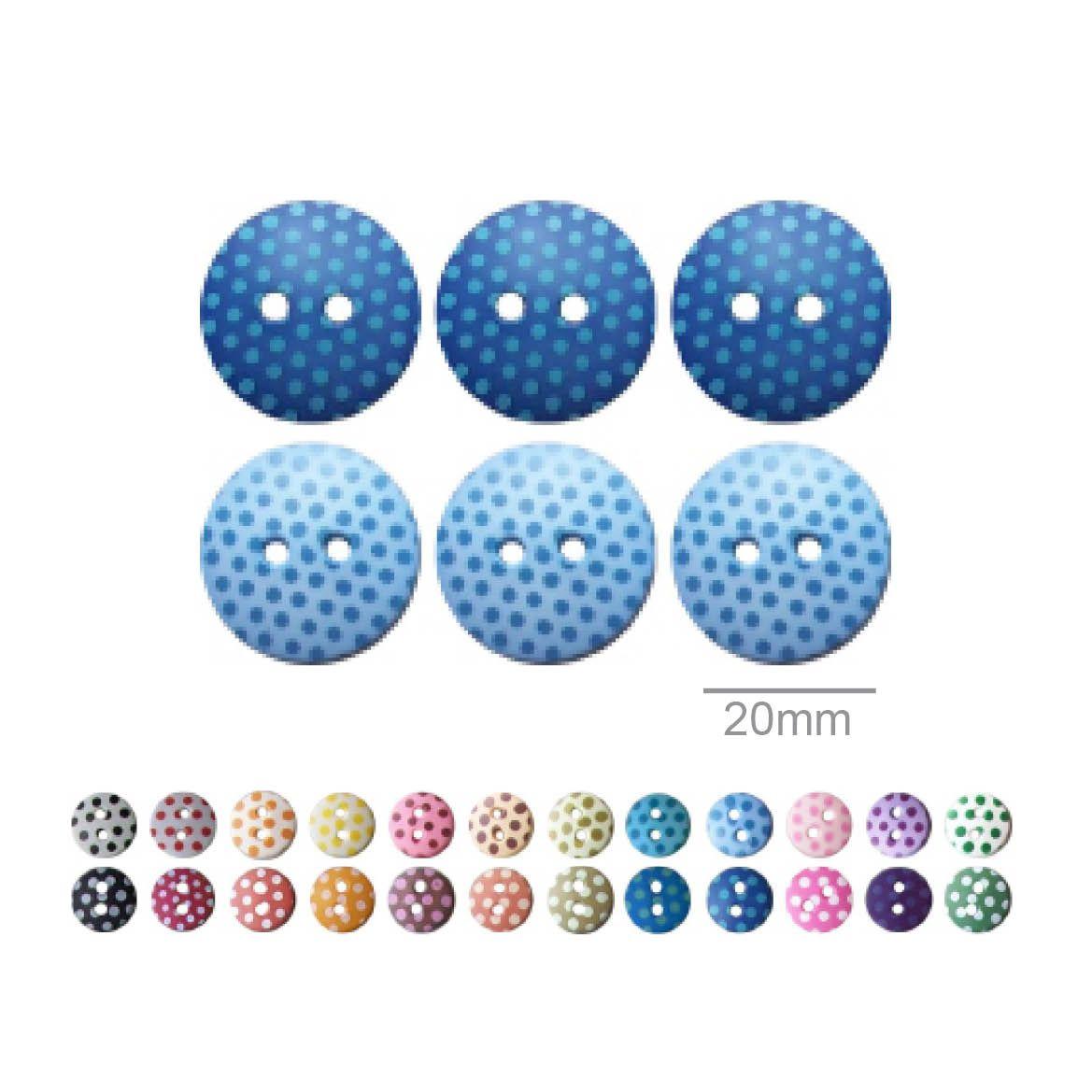 Botões Com Poá Redondos - 20 mm