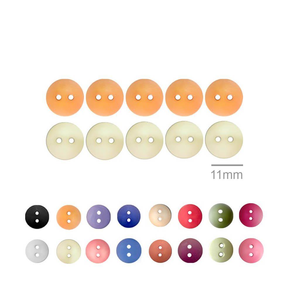 Botões Lisos Redondos  - 11 mm
