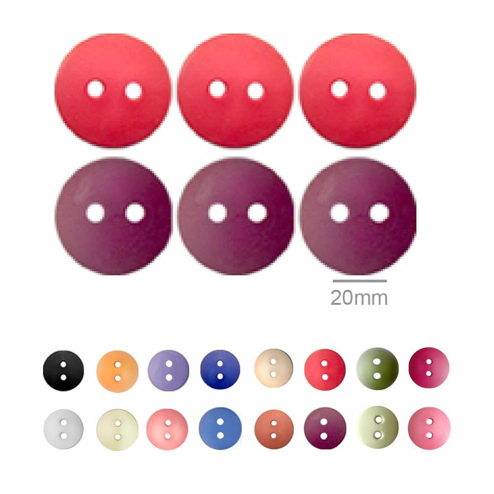 Botões Lisos Redondos  - 20 mm