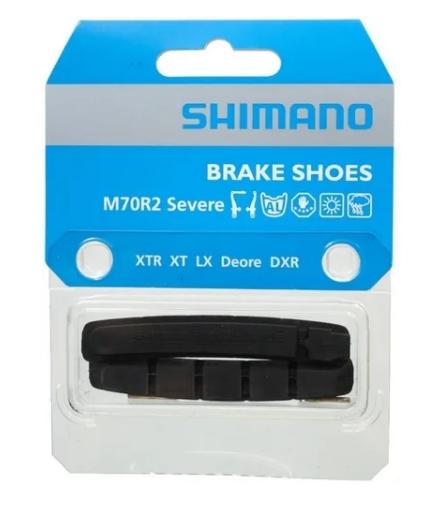 1260215 Pastilhas Refil de Freio Shimano M70R2 MTB V-Brake Aro Alumínio