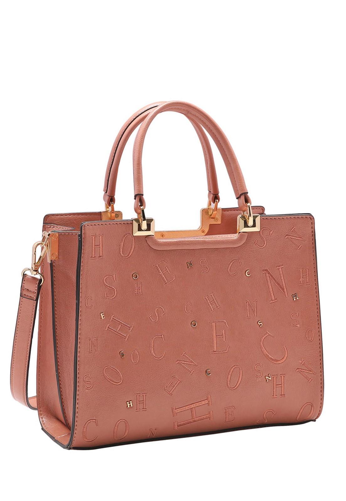 Bolsa Feminina Chenson Bordado e Apliques de Mão 3483259