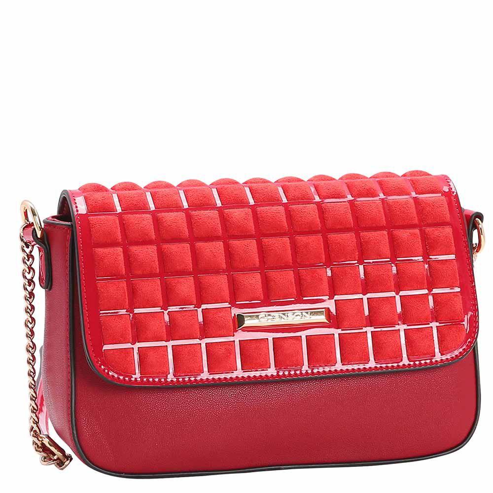 Bolsa Feminina Chenson Camurça Transversal 3483046