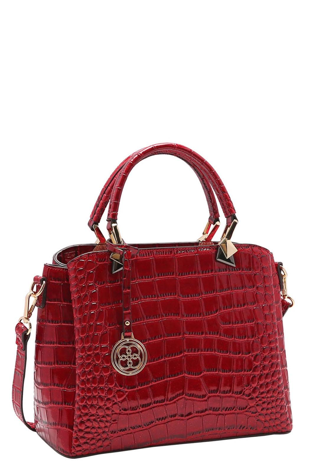 Bolsa Feminina Chenson Croco Gliter de Mão 3483195