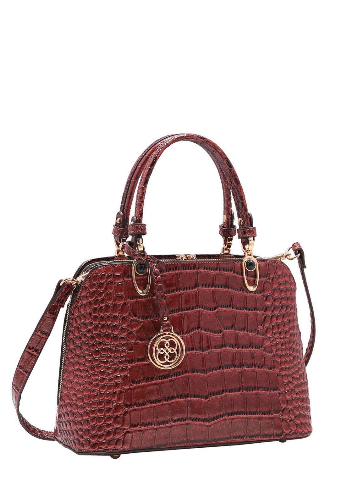 Bolsa Feminina Chenson Croco Gliter de Mão 3483196