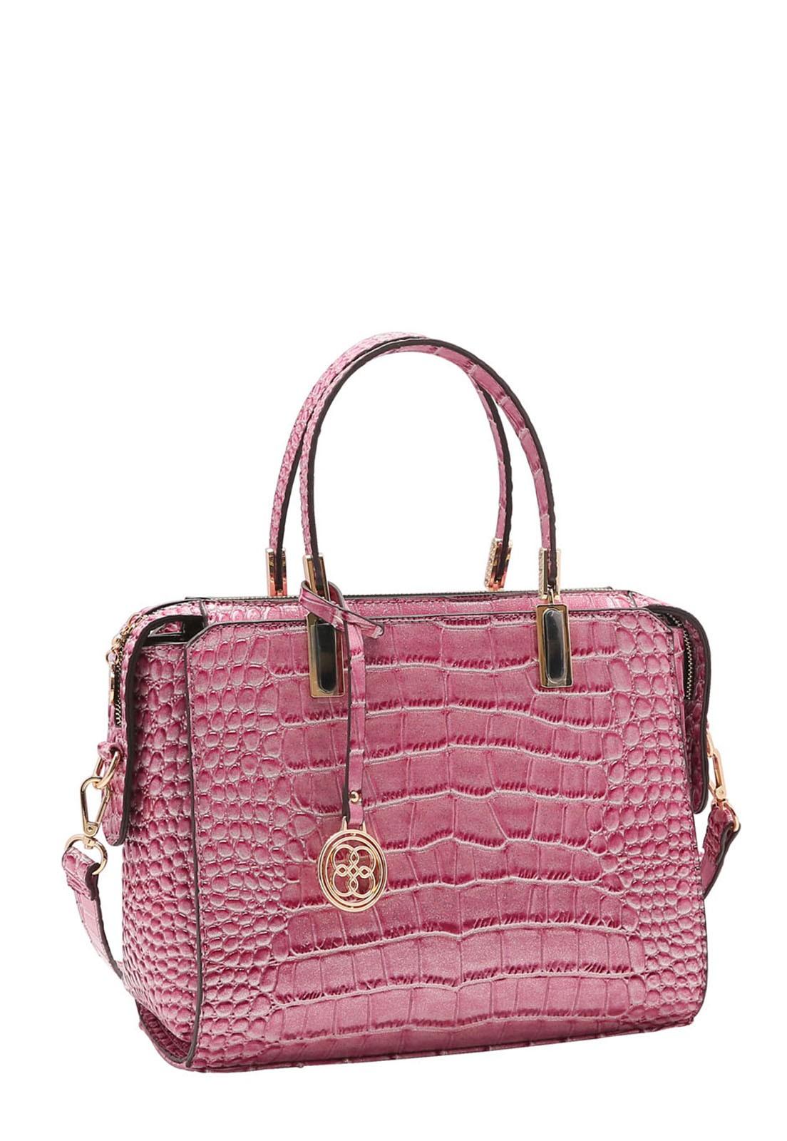 Bolsa Feminina Chenson Croco Gliter de Mão 3483197