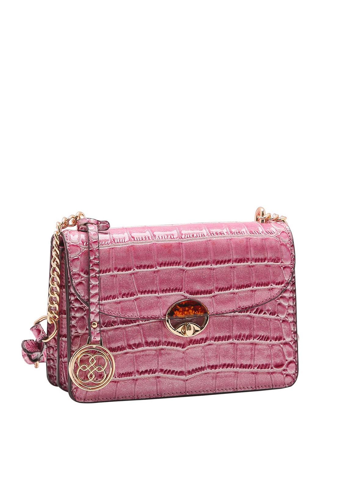 Bolsa Feminina Chenson Croco Gliter Transversal 3483193