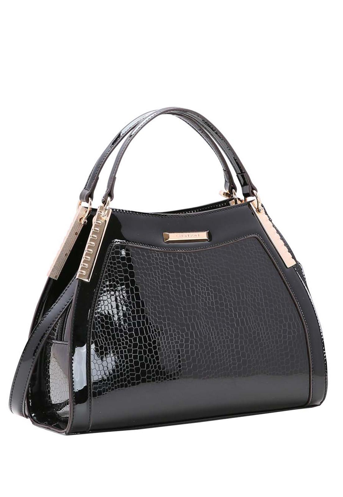 Bolsa Feminina Chenson Croco Metalizado Mão 3483513
