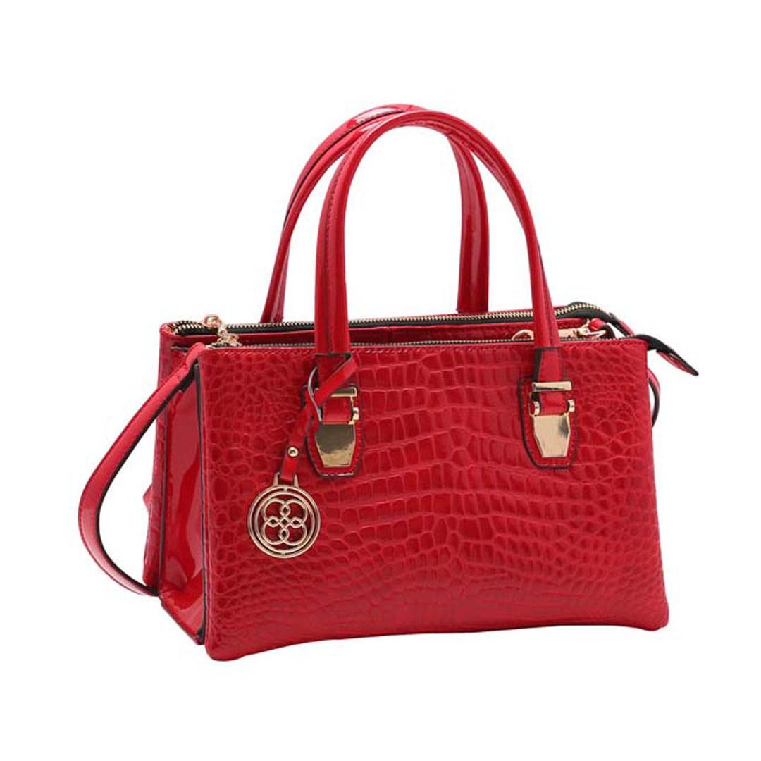 Bolsa Feminina Chenson Croco Verniz Mão 3483217
