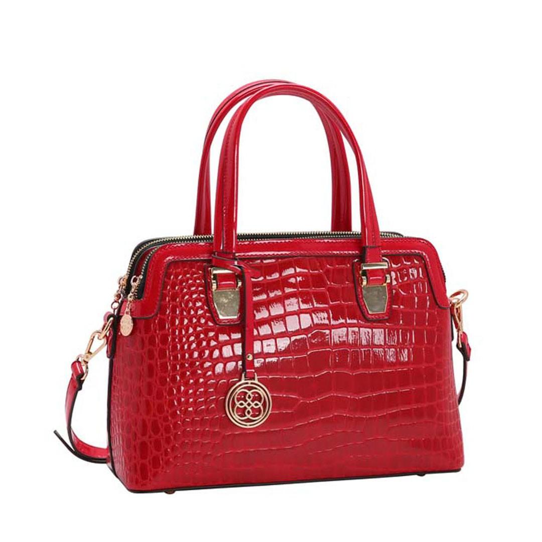 Bolsa Feminina Chenson Croco Verniz 3483218