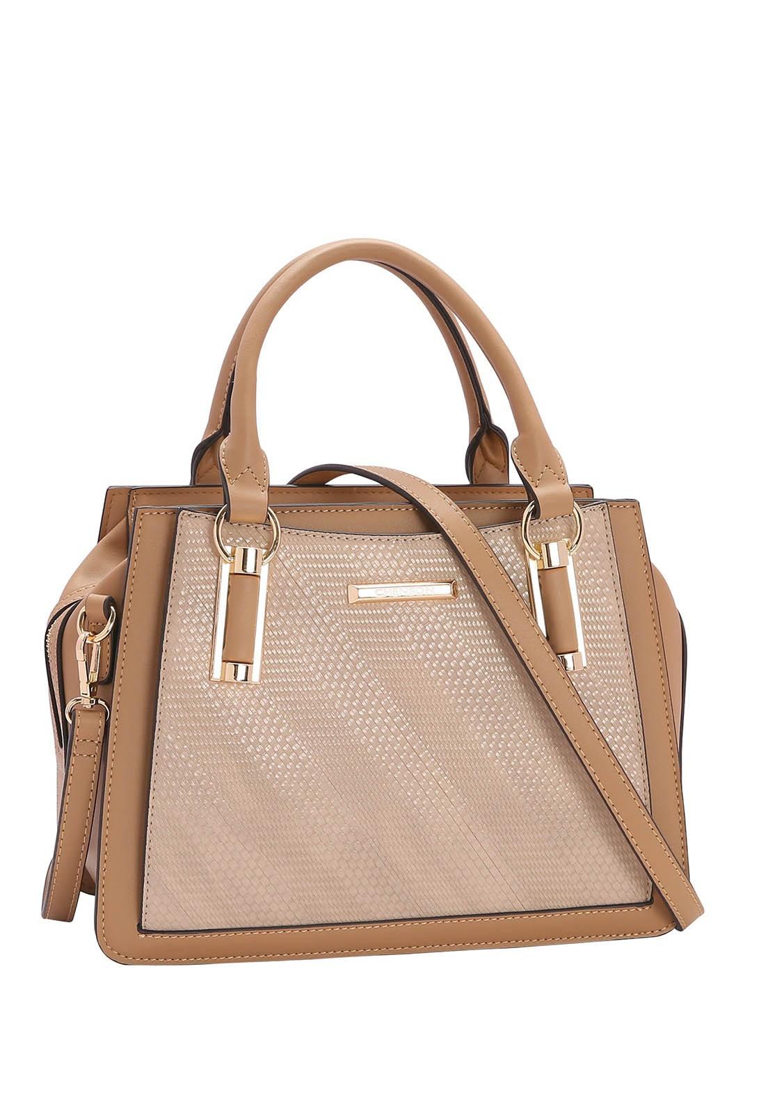 Bolsa Feminina Chenson Detalhe Xadrez de Mão 3482933