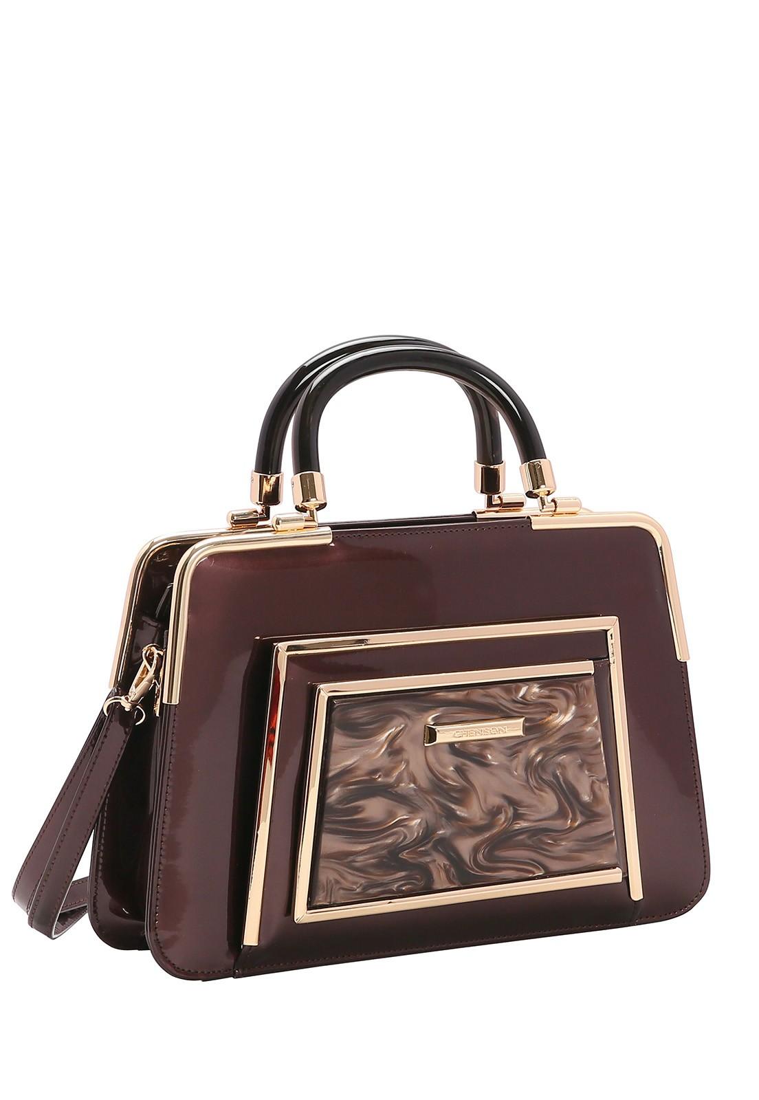 Bolsa Feminina Chenson Glamour Marmorizado de Mão 3483020
