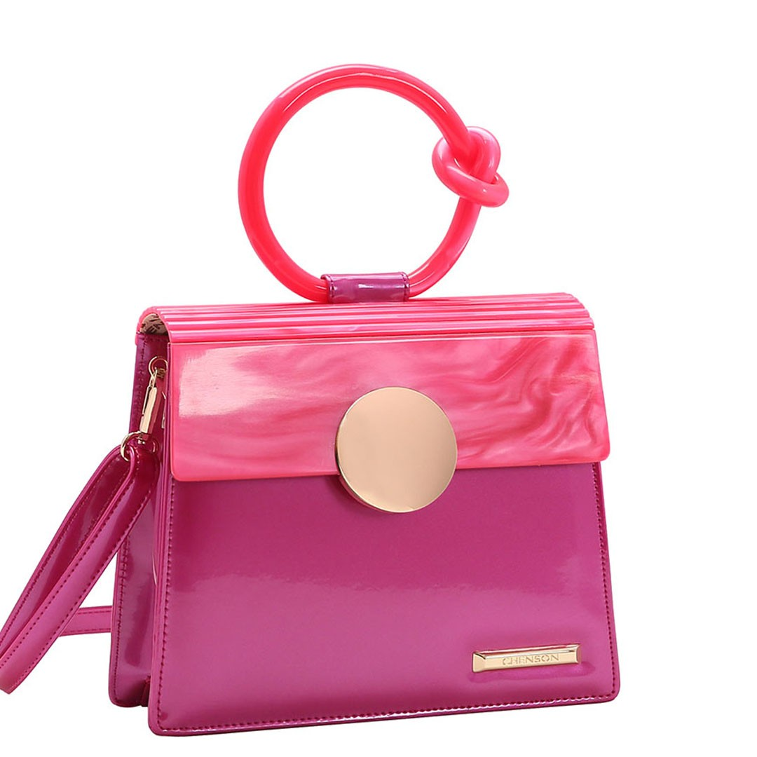 Bolsa Feminina Chenson Glamour Marmorizado de Mão 3483033