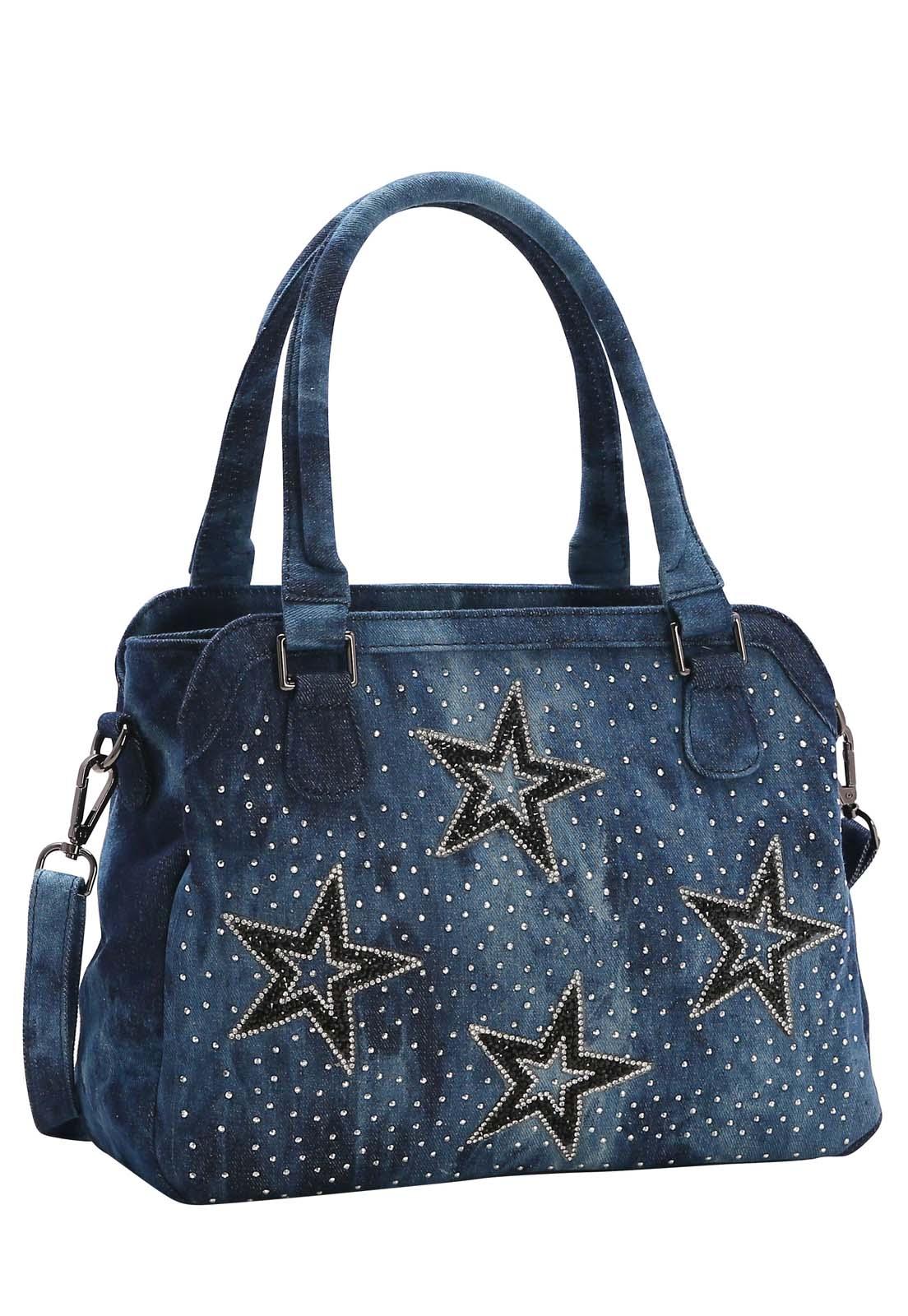 Bolsa Feminina Chenson Jeans Star Mão 3682538