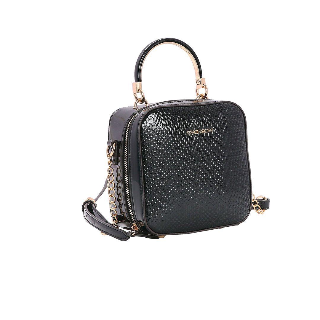 Bolsa Feminina Chenson Lagarto Verniz Transversal 3482904