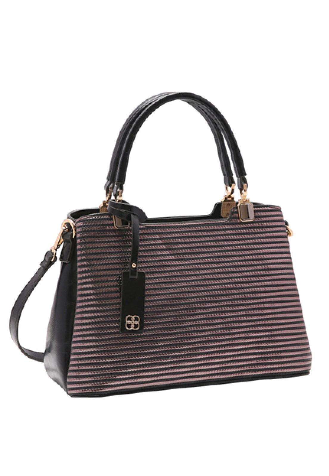 Bolsa Feminina Chenson Listra Metalizada de Mão 3483245
