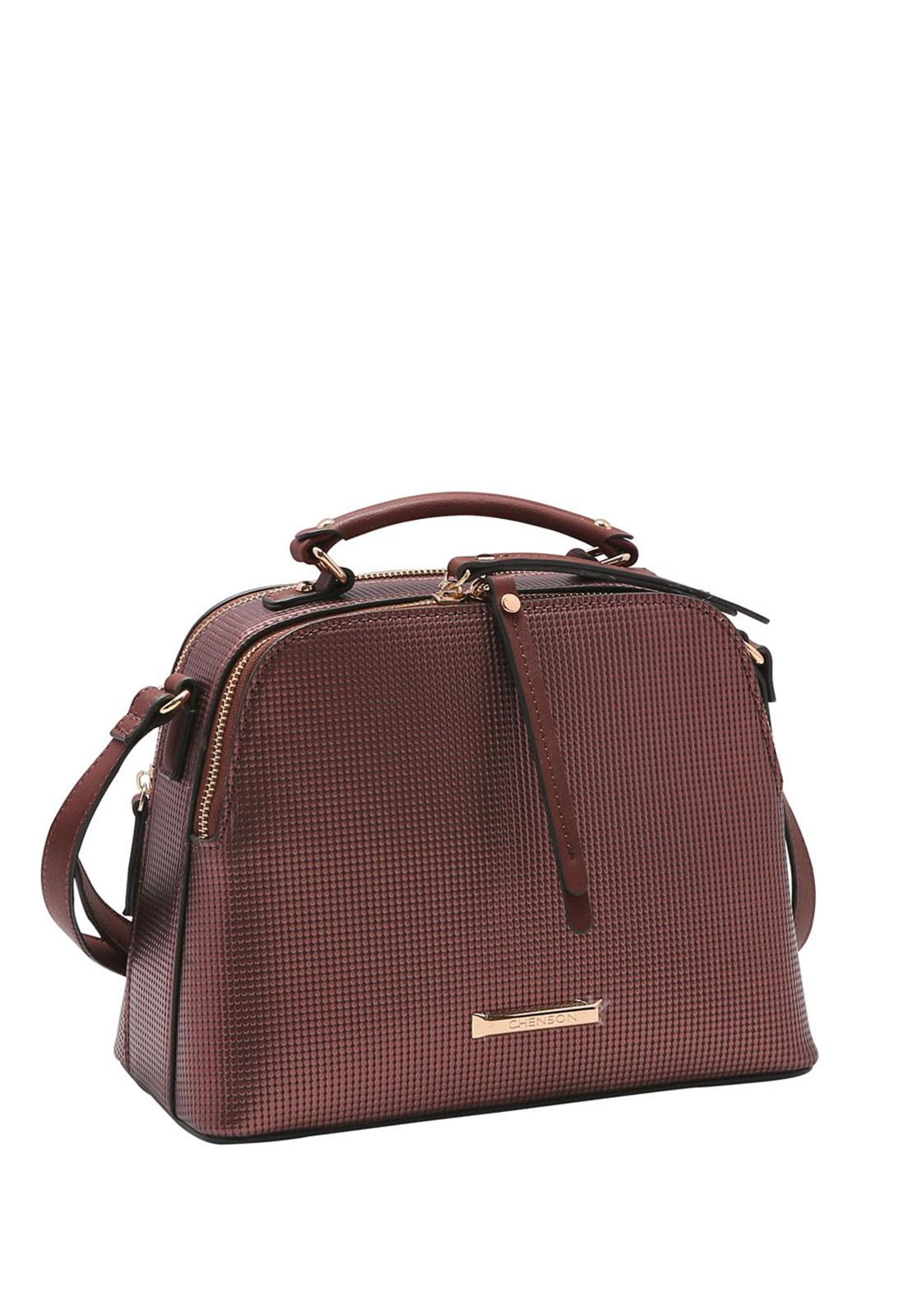 Bolsa Feminina Chenson Metalizada Transversal 3483220