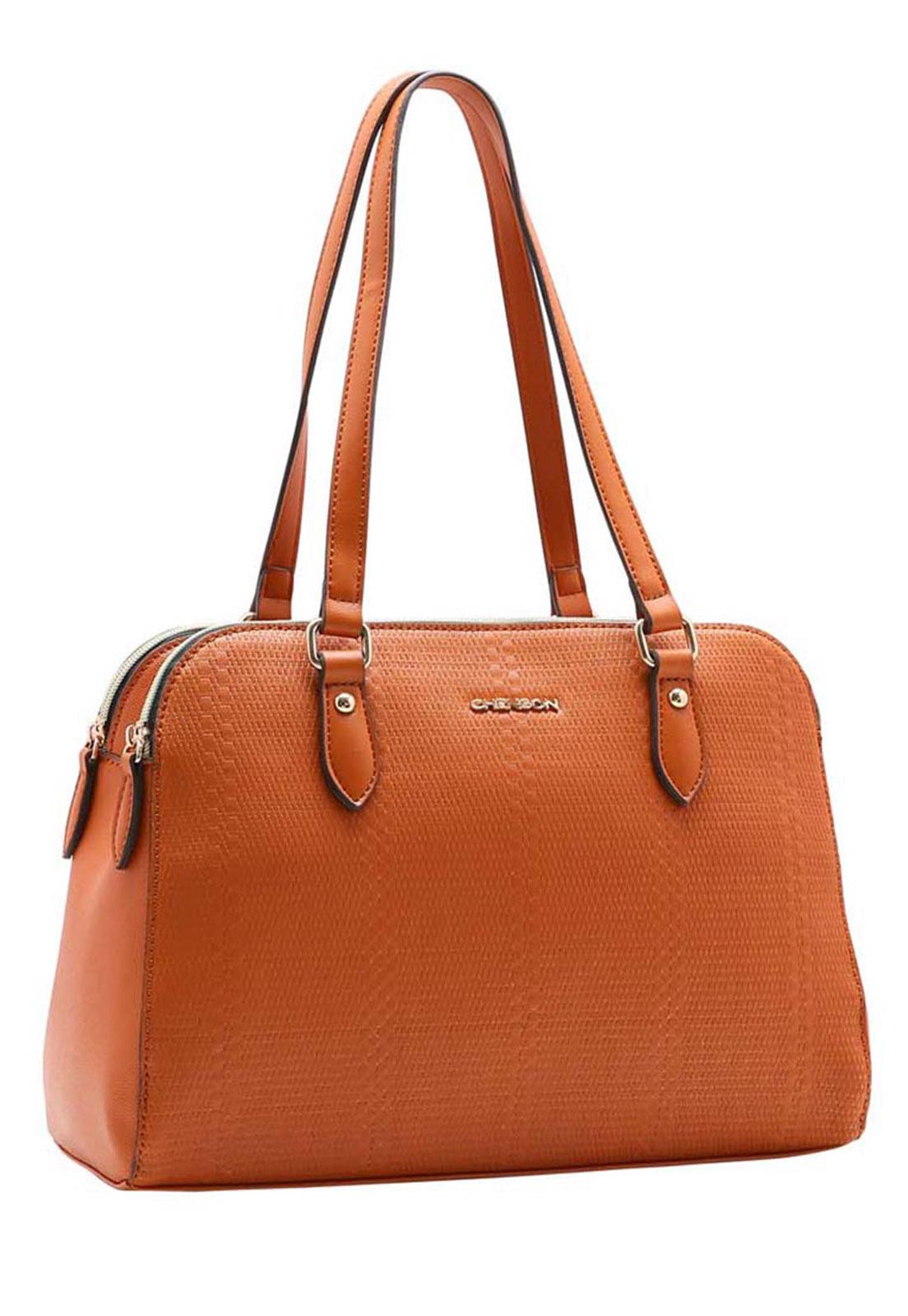 Bolsa Feminina Chenson Mix de Texturas Ombro 3483369