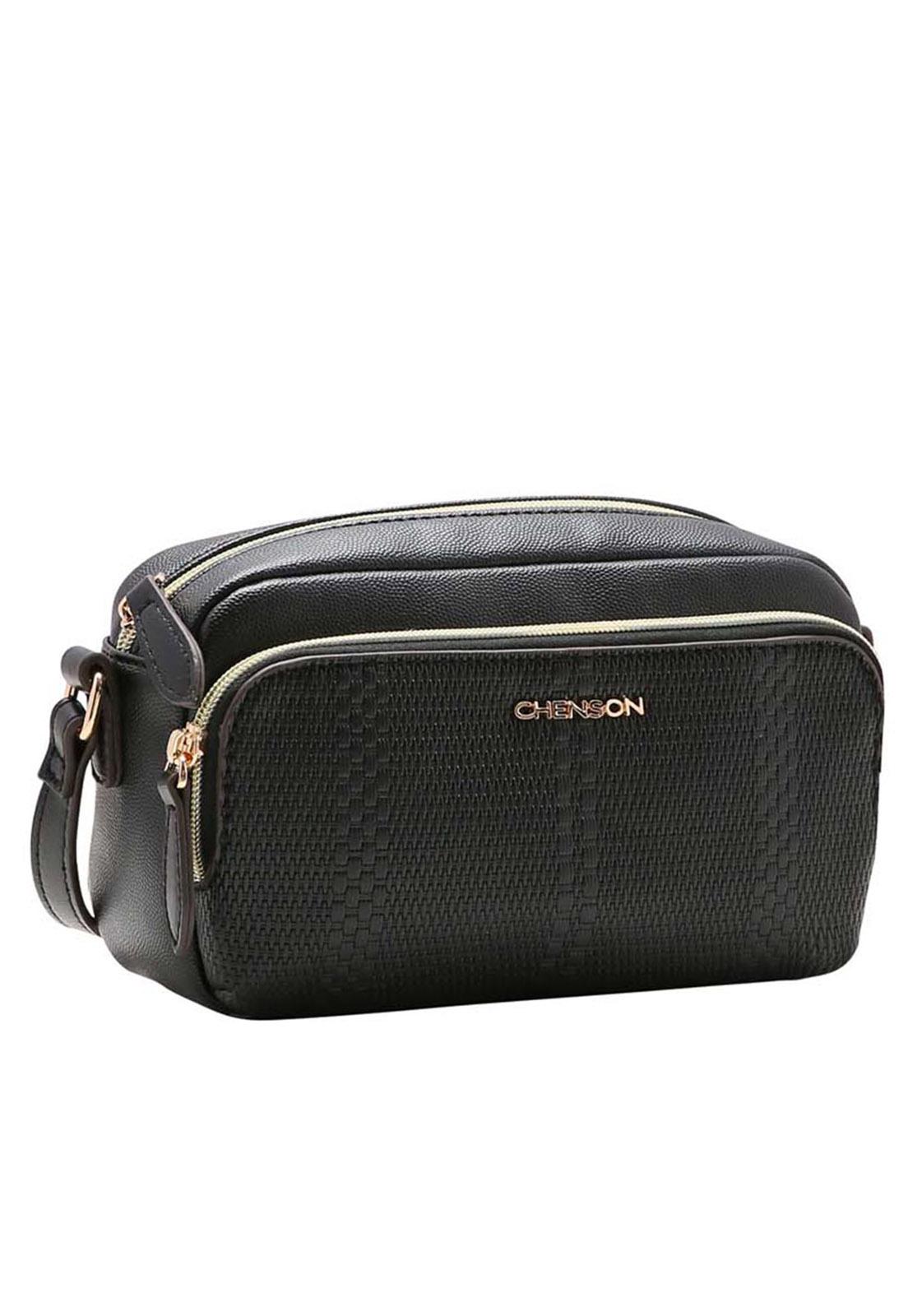 Bolsa Feminina Chenson Mix de Texturas Transversal  3483371