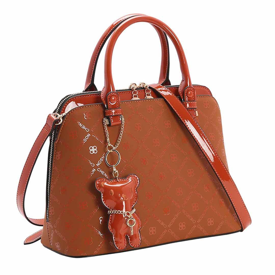 Bolsa Feminina Chenson Monograma Shine de Mão 3483035