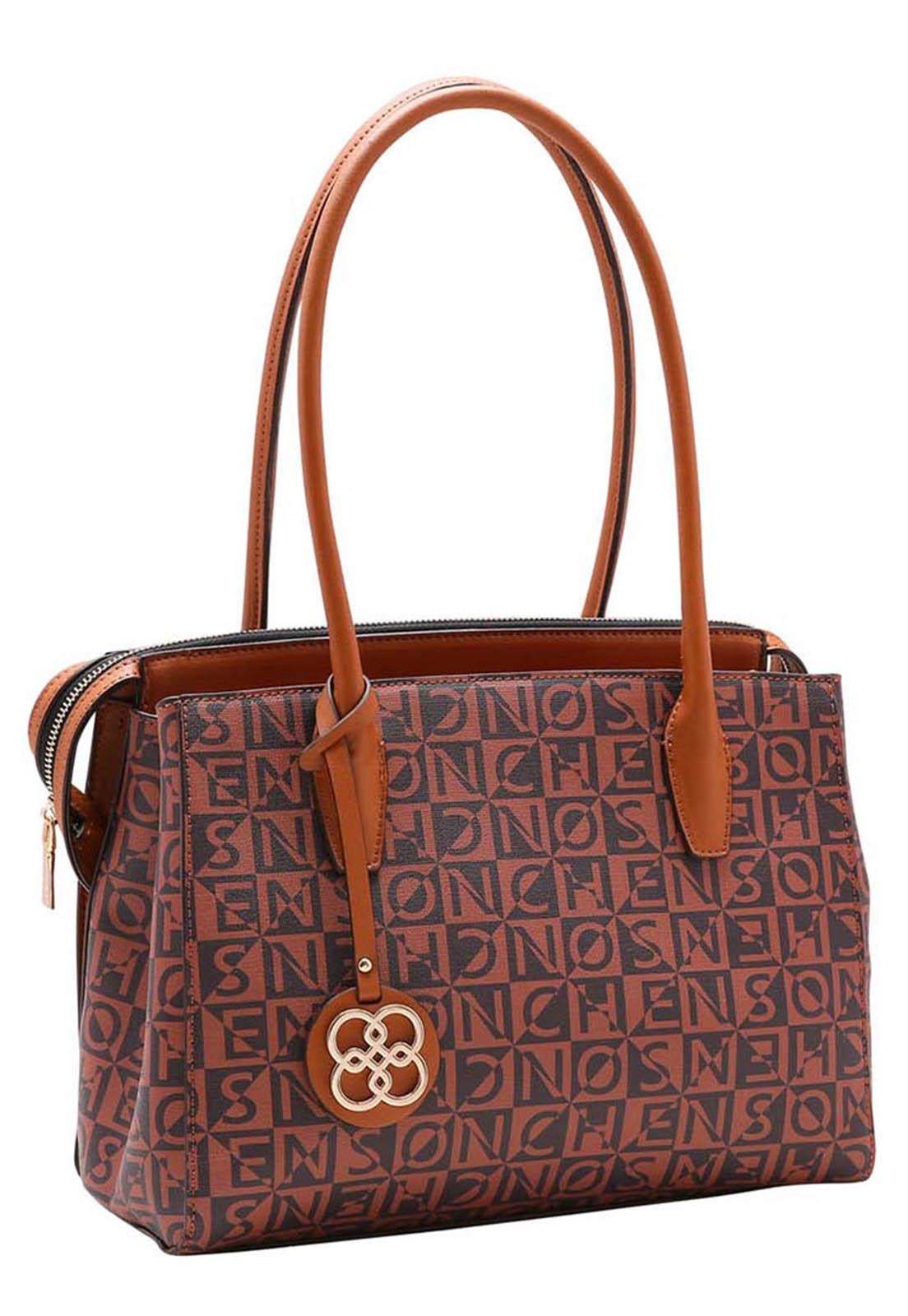 Bolsa Feminina Chenson Monograma Tridimensional Mão 3483439