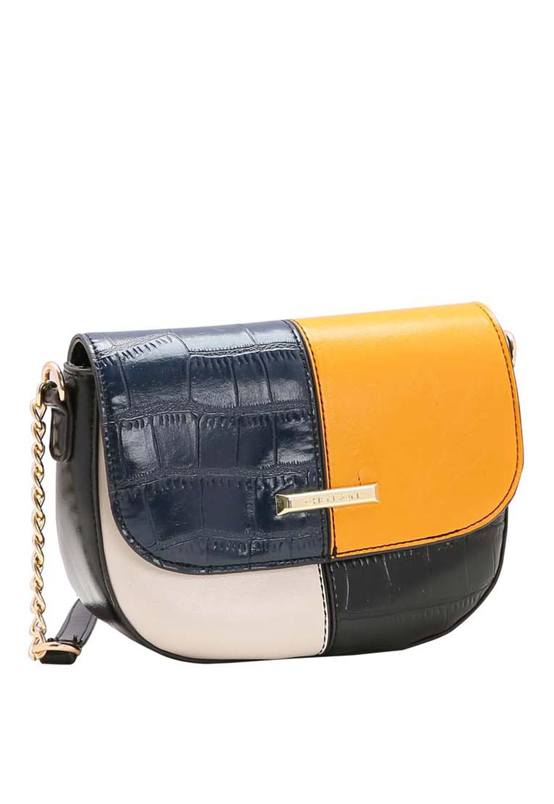 Bolsa Feminina Chenson Patchwork Croco Transversal 3483527