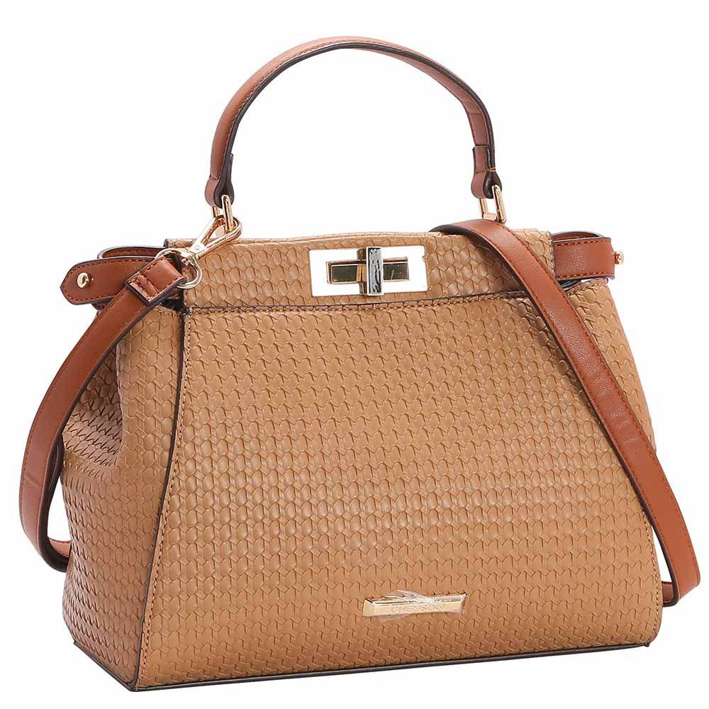 Bolsa Feminina Chenson Relevo tressê de Mão 3482923