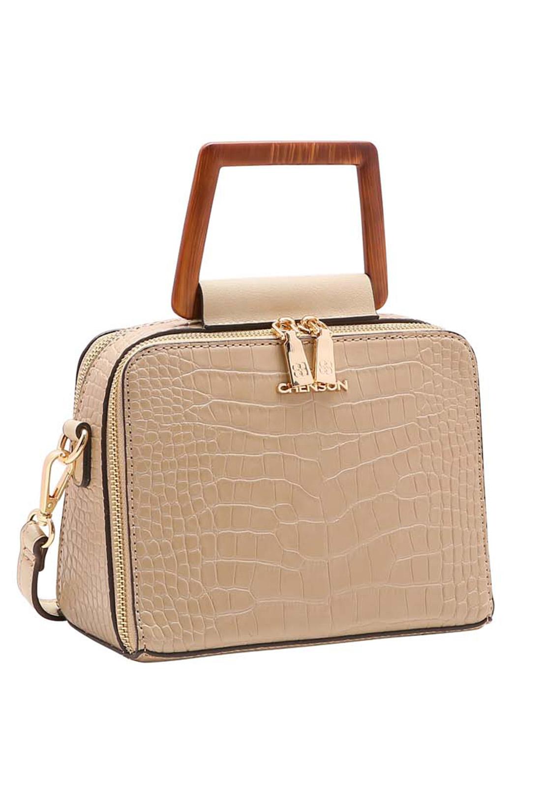 Bolsa Feminina Chenson Rústica Mão 3483512