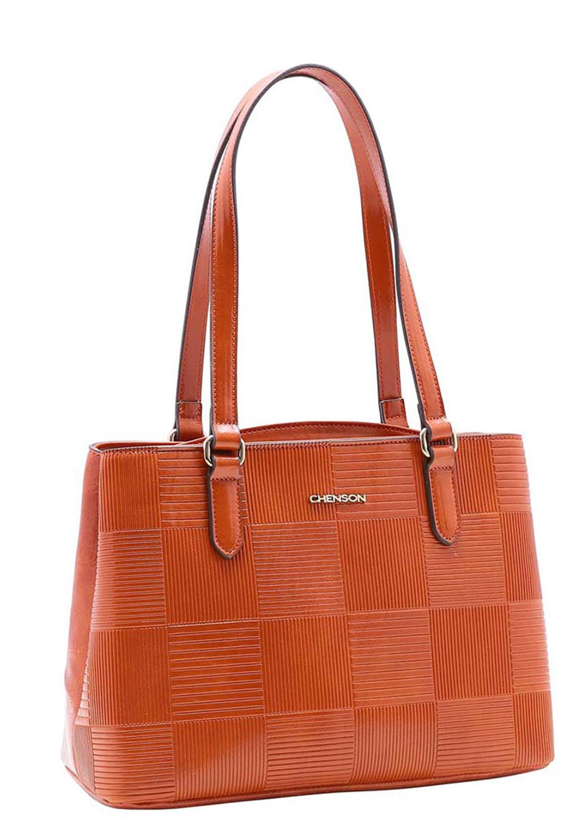 Bolsa Feminina Chenson Textura em Verniz  Ombro 3483387
