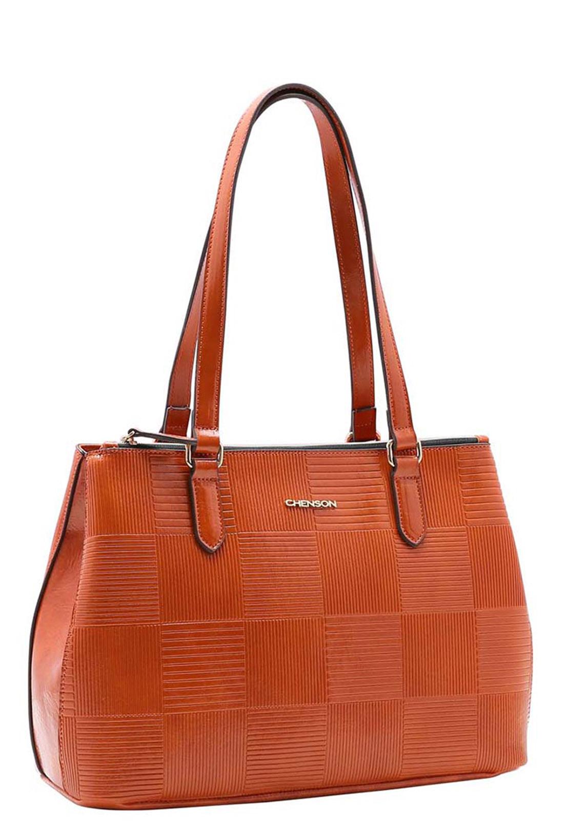 Bolsa Feminina Chenson Textura em Verniz  Ombro 3483388