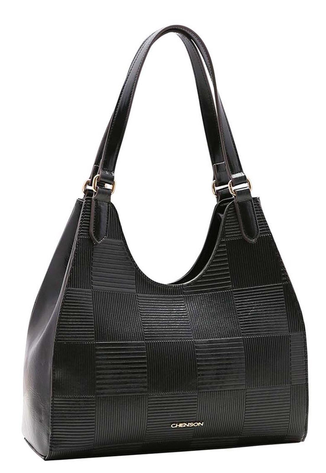 Bolsa Feminina Chenson Textura em Verniz  Ombro 3483389