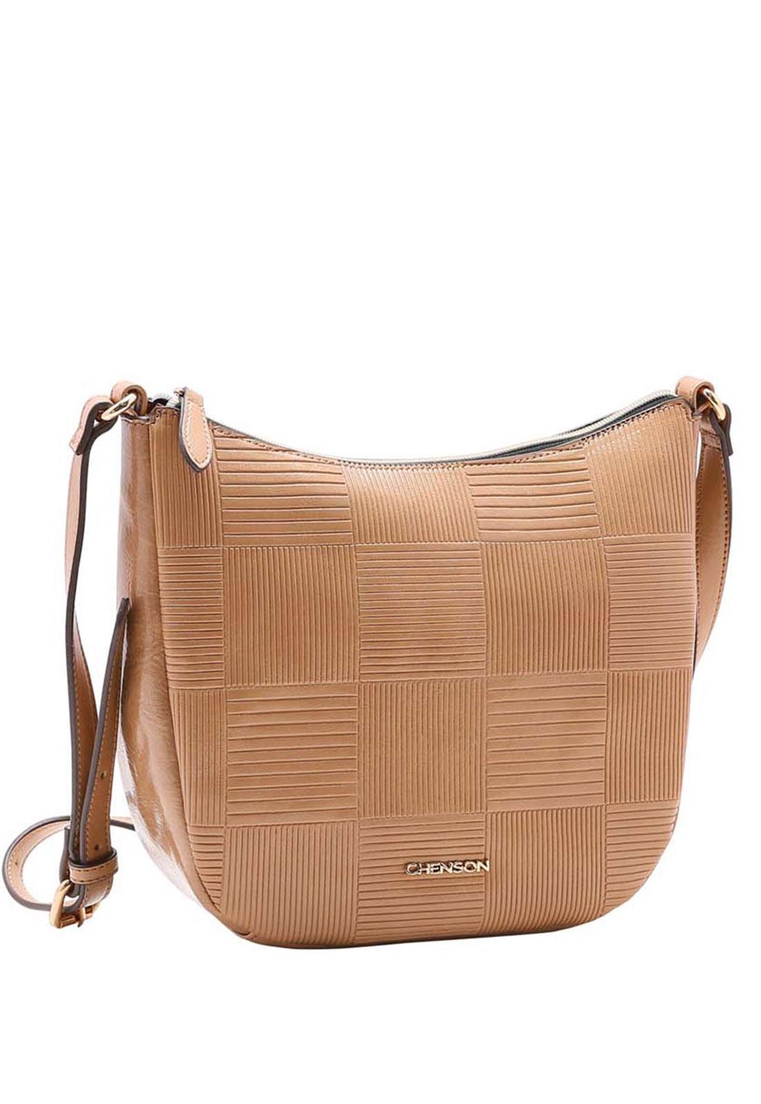 Bolsa Feminina Chenson Textura em Verniz  Ombro 3483390