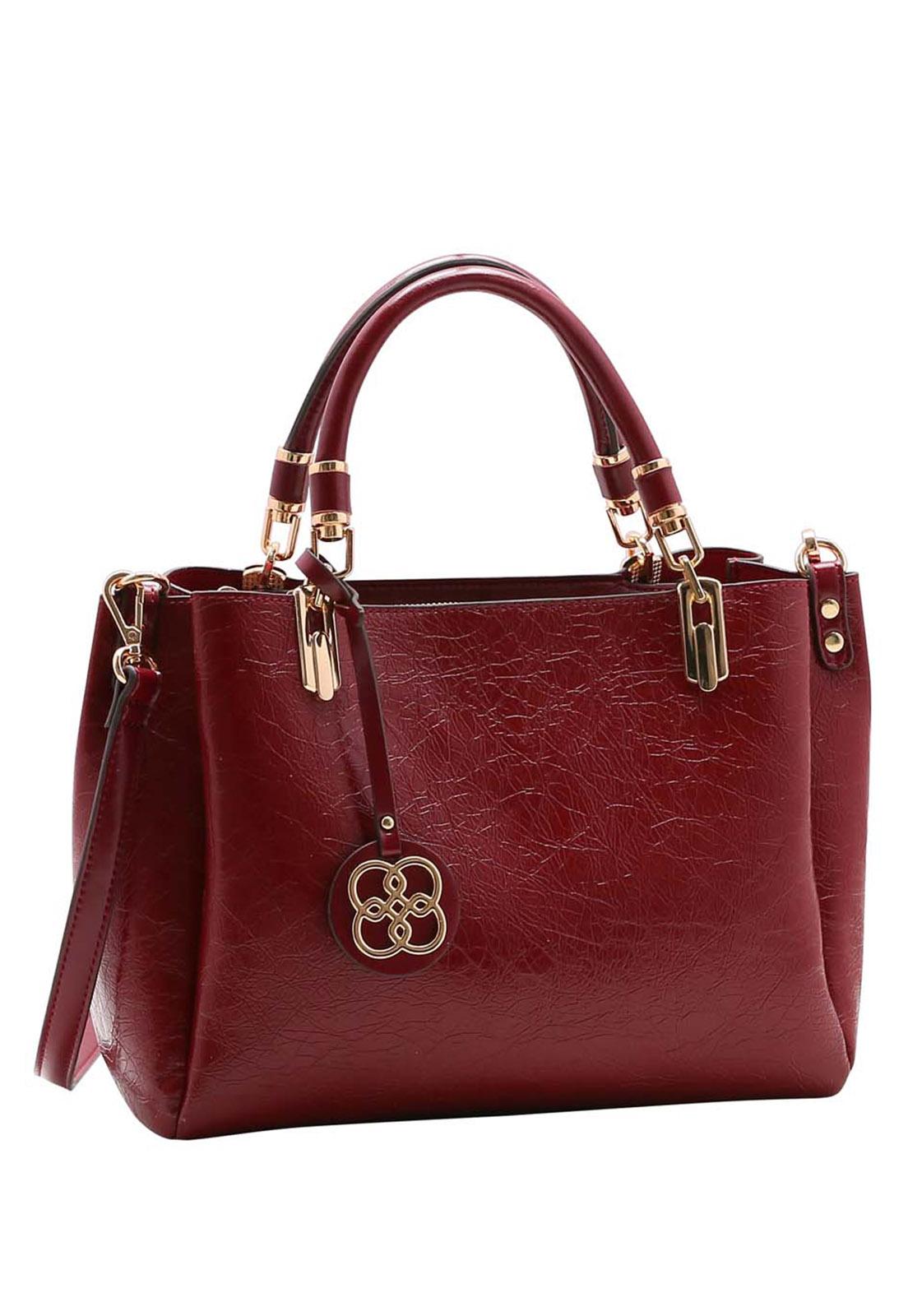 Bolsa Feminina Chenson Textura Verniz Mão 3483501