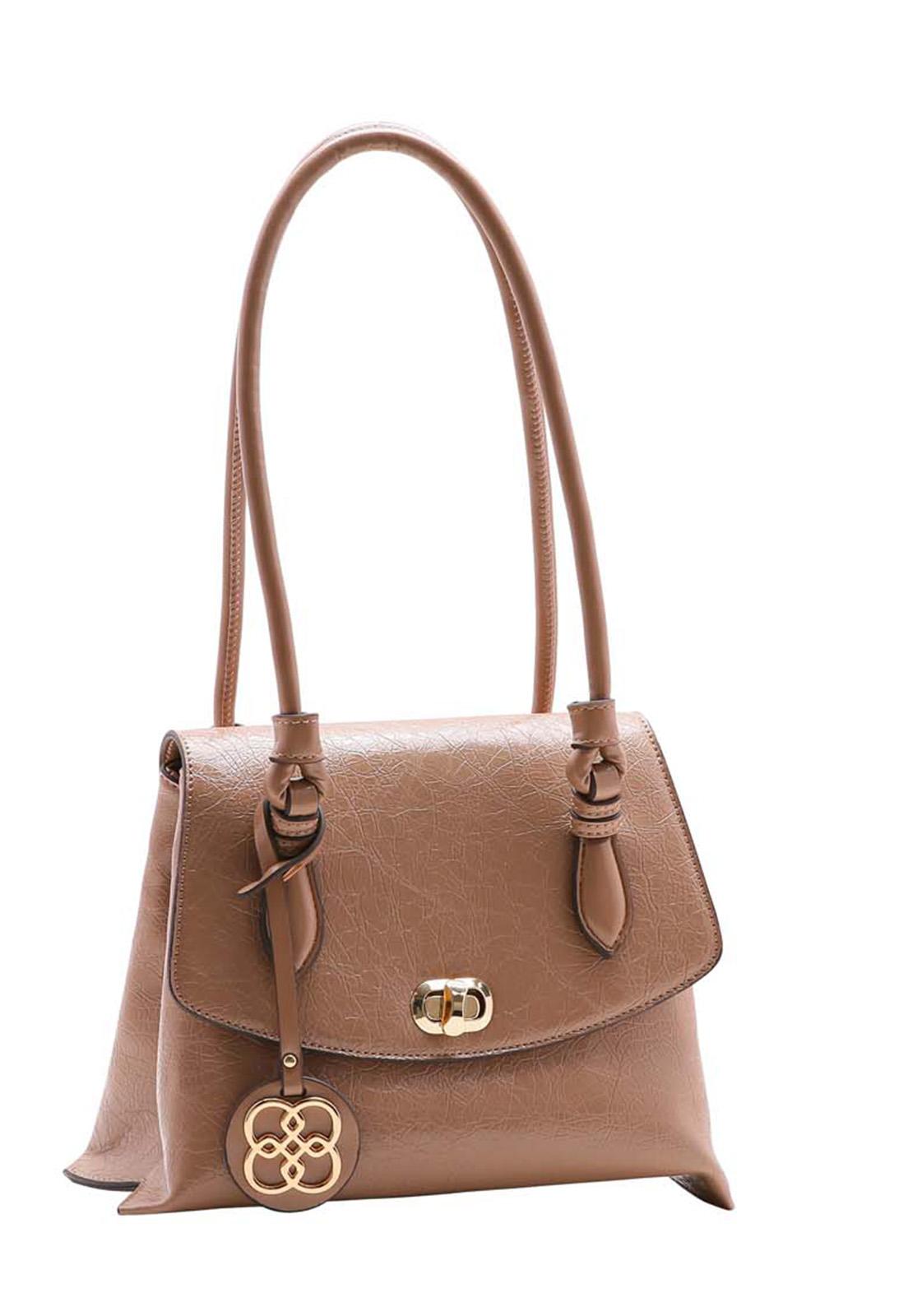 Bolsa Feminina Chenson Textura Verniz Ombro 3483503