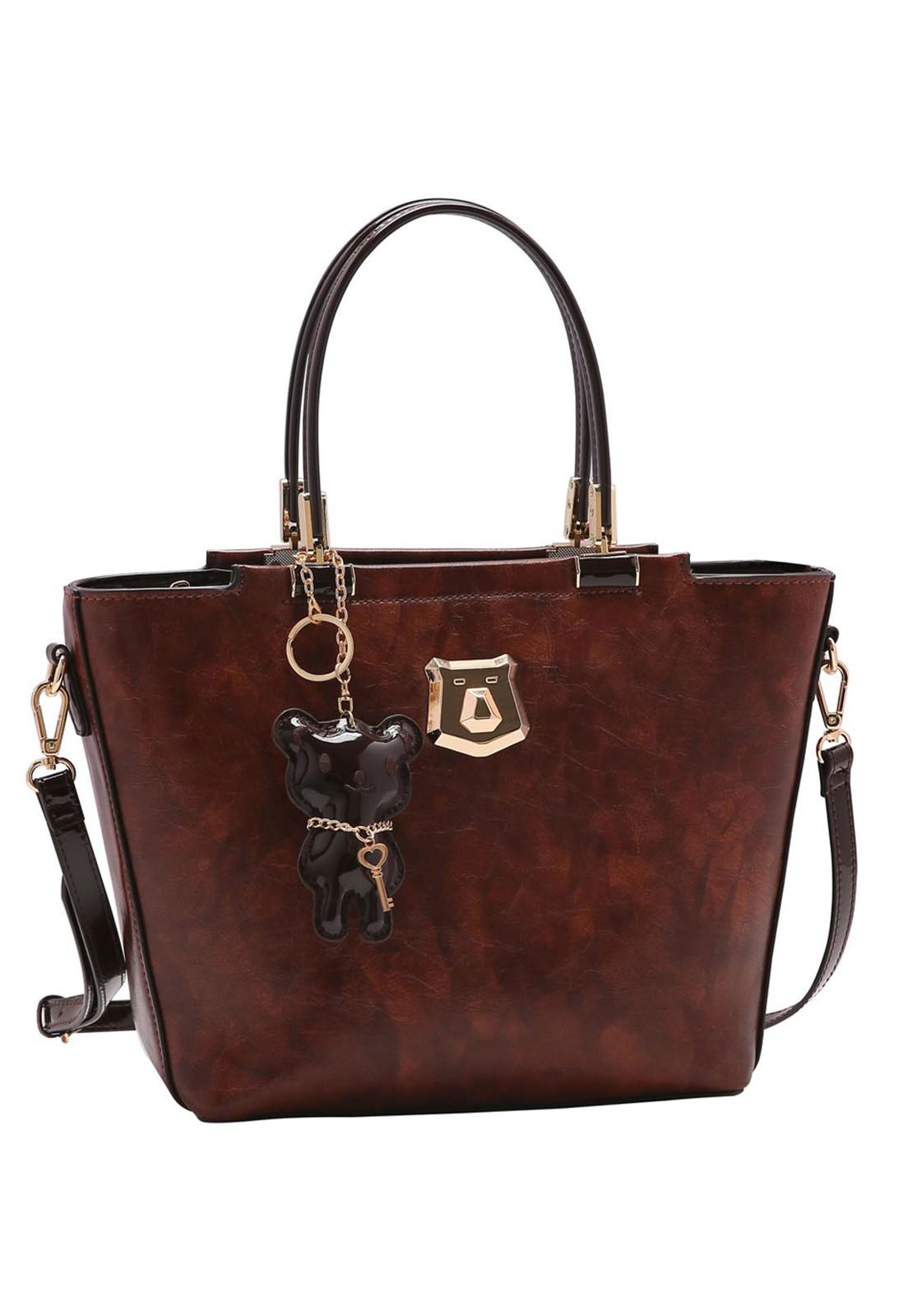 Bolsa Feminina Chenson Urso de Mão 3483266