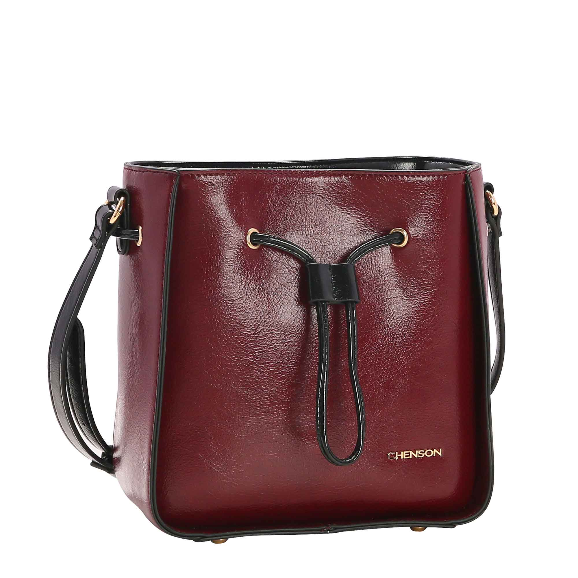 Bolsa Feminina Chenson Verniz Clássico Transversal 3482657