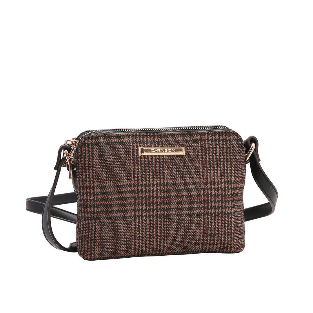 Bolsa Feminina Chenson Xadrez Transversal 3483009