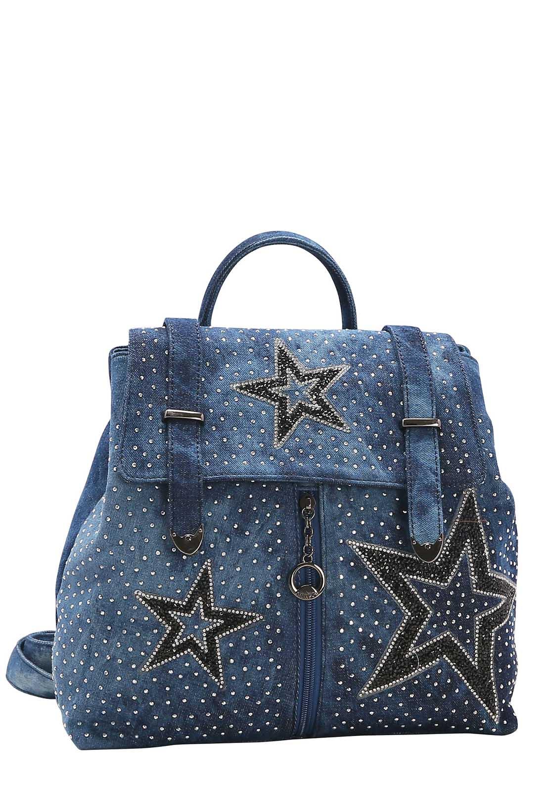 Mochila Feminina Chenson Jeans Star de Costa 8682540