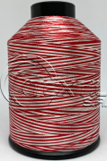 Linha de bordar MATIZADA Código - 1020 - Vermelho e Branco