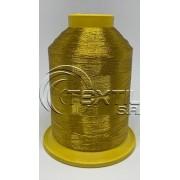"""Linha de bordar metalizada código SA.03.01.0007 """"Ouro Sultão"""""""