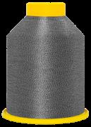 """Linha de bordar metalizada mesclada código SA.01.02.0001 """"Prata com Preto"""""""