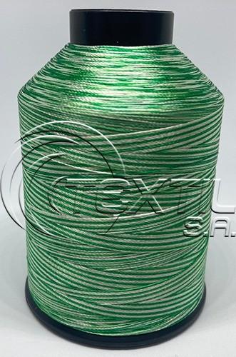 Linha de bordar MATIZADA Código - 1019 - Verde bandeira e Off White