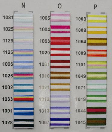 """Linha de bordar MATIZADA Código - 1033 """" Mesclado coral, azul e amarelo"""""""